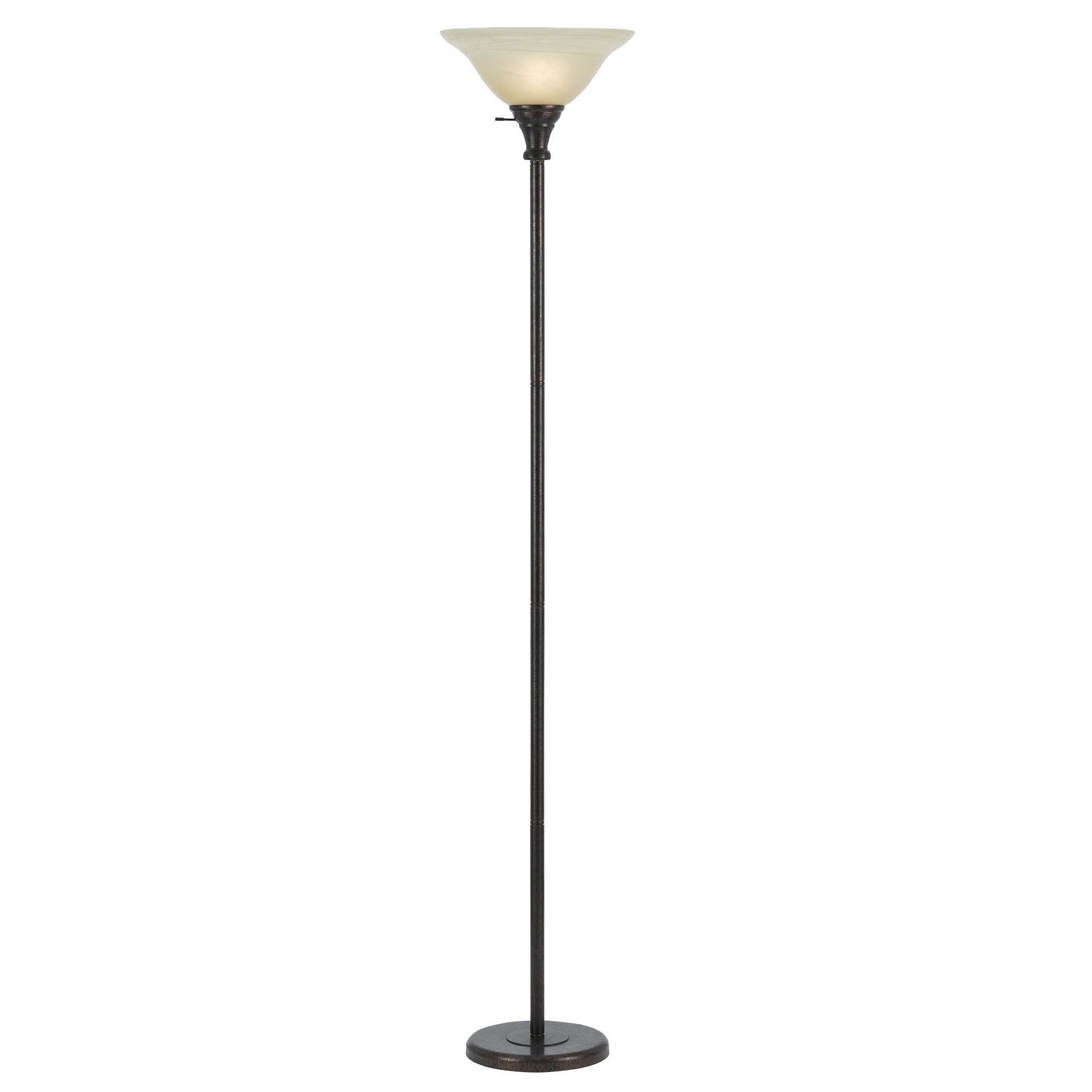 Torchiere Floor Lamp With Gl Shade