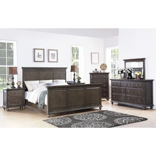 Abbyson Marseilles City Grey 6 Piece Bedroom Set