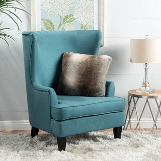 Canterburry High Back Fabric Wing Chair by Christopher Knight Home