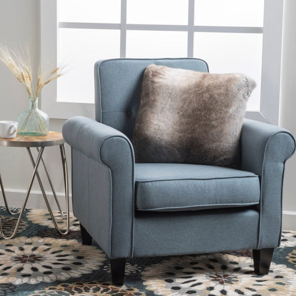 Isaac Tufted Fabric Club Chair By Christopher Knight Home