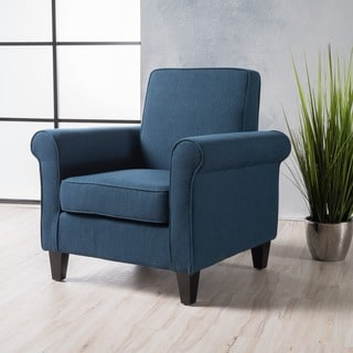 Link to Freemont Fabric Club Chair by Christopher Knight Home Similar Items in Accent Chairs