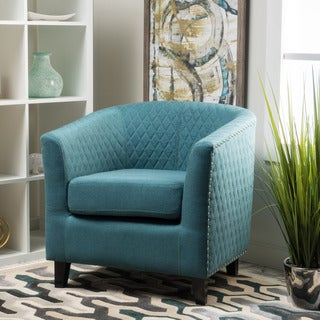 Mia Quilted Fabric Club Chair by Christopher Knight Home