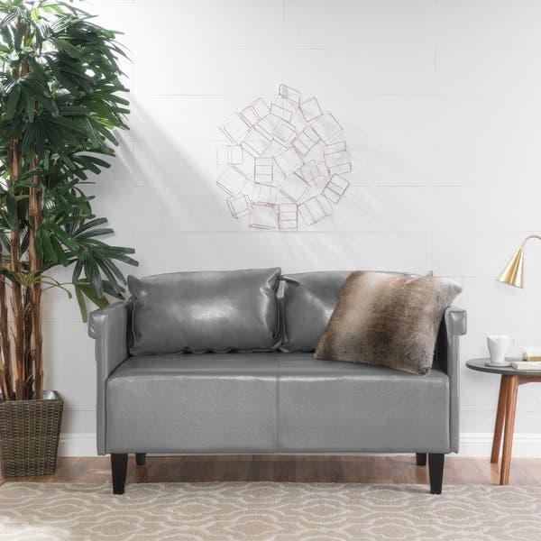 Phenomenal Shop Bellerose Faux Leather Loveseat Settee Sofa By Onthecornerstone Fun Painted Chair Ideas Images Onthecornerstoneorg