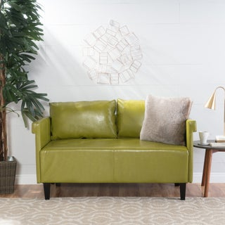 Bellerose Faux Leather Loveseat Settee Sofa by Christopher Knight Home (4 options available)