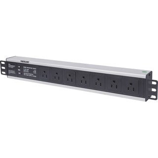 "Intellinet 19"" 1.5U Rackmount 7-Way Power Distribution Unit (PDU) - U"