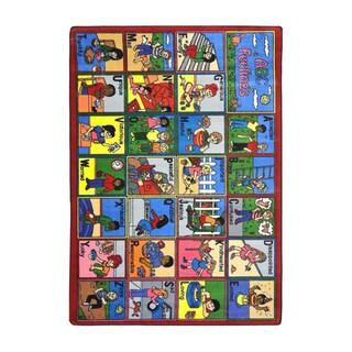 Joy Carpets Kid Essentials Early Childhood ABC Feelings Multicolored Nylon Rug - 7'8 x 10'9