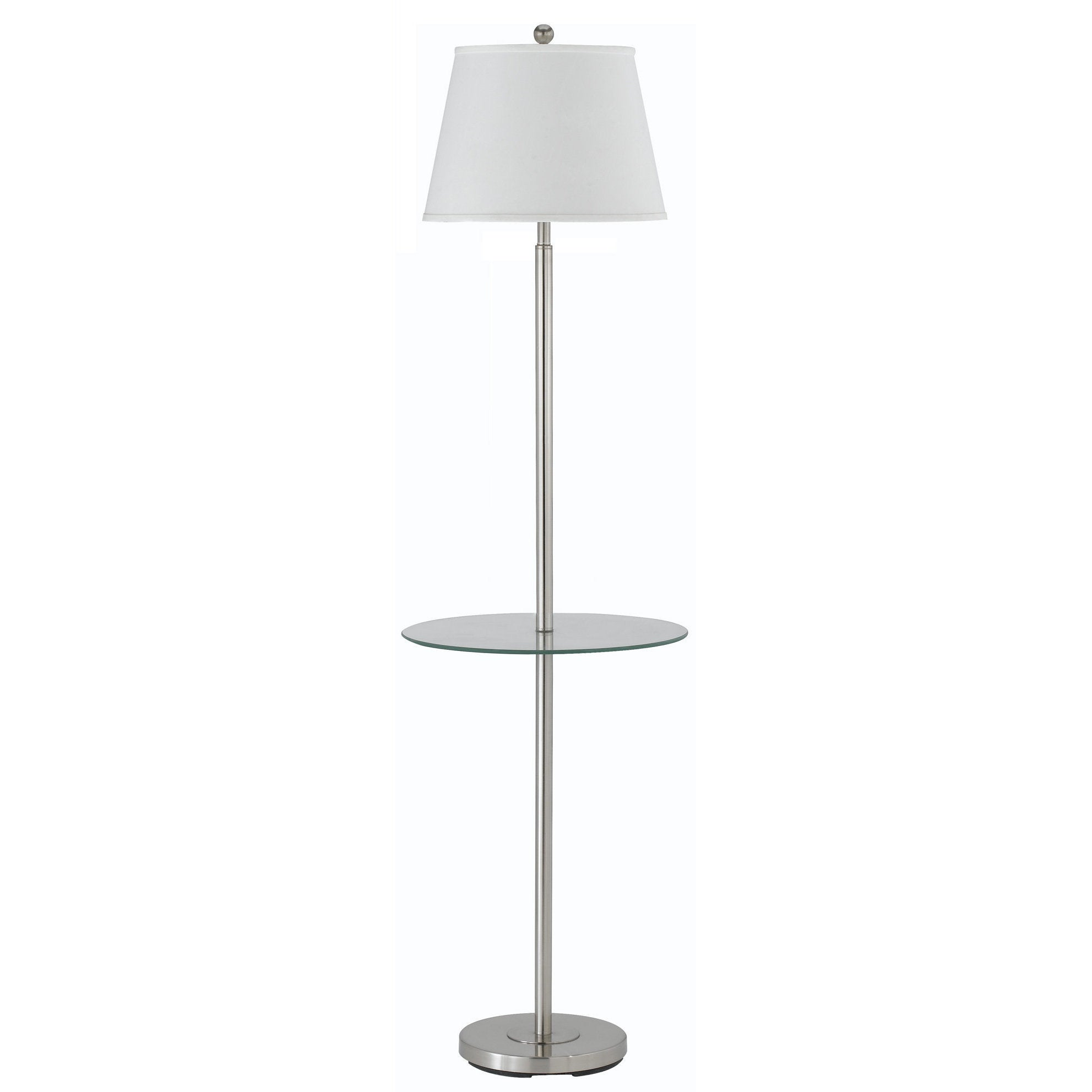 150W 3WY Andros FL LP W/Glass Tray (Floor Lamp), Silver (...