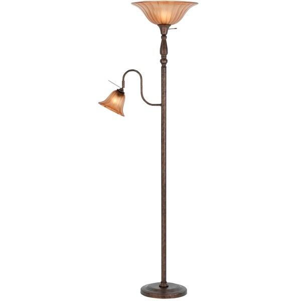 Metal 100-watt Floor Lamp with 60-watt Reading Lamp