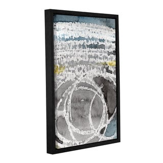 Linda Woods's 'Saltwater' Gallery Wrapped Floater-framed Canvas