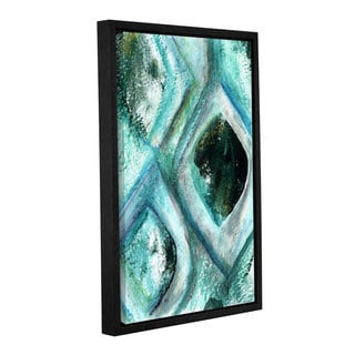 Linda Woods's 'Teal' Gallery Wrapped Floater-framed Canvas