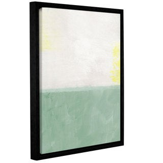 Linda Woods's 'Mintfield' Gallery Wrapped Floater-framed Canvas