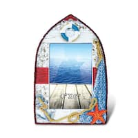 Puzzled Multicolor 4-inch x 6-inch Nautical Photo Frame
