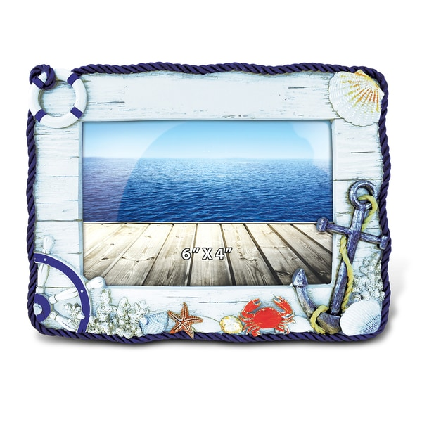 shop maritime anchor wood 4x6 nautical picture frame