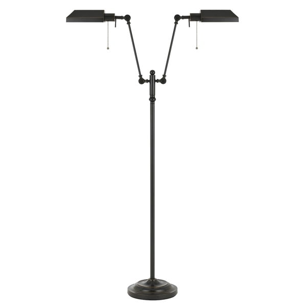100-watt 2-light Pharmacy Floor Lamp With Metal Shade
