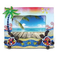 Puzzled Inc Sea Turtles Mosaic Nautical Multicolor 4-inch x 6-inch Picture Frame
