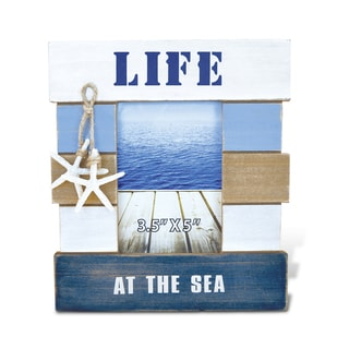 Puzzled Atlantic Life At The Sea 3.5-inch x 5-inch Nautical Decor Photo Frame