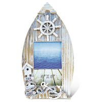 Puzzled Baja Boat Handcrafted Wooden 4-inch x 6-inch Nautical Photo Frame