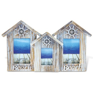 Puzzled Wood 2x3.5 x 5, 1x2.5 x 3.5 3 Baja Beach House Frames