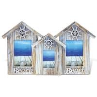 Puzzled Wood 2x3.5 x 5, 1x2.5 x 3.5 3 Baja Beach House Frames