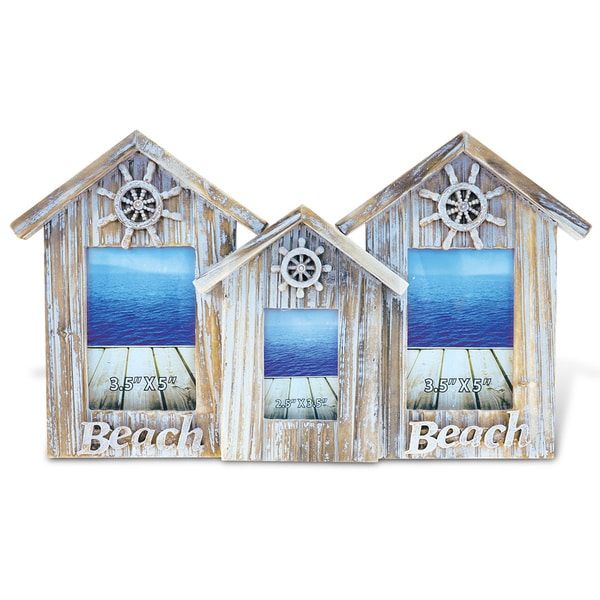 Shop Puzzled Wood 2x3.5 x 5, 1x2.5 x 3.5 3 Baja Beach House Frames ...