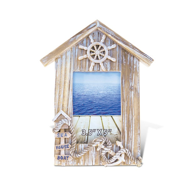Puzzled Baja Beach House 3.5-inch x 5-inch Photo Frame Nautical Decor