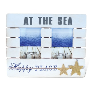 'Dream At The Sea' 3.5-inch x 5-inch Nautical Photo Frames (Set of 2)