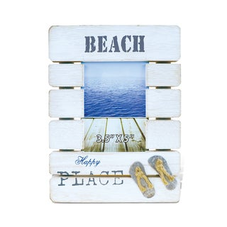 Puzzled Dream Beach Handcrafted Wooden 3.5-inch x 5-inch Nautical Decor Photo Frame