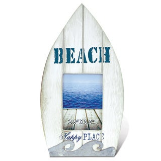 Puzzled Multicolor Wood Dream Beach Boat Photo Frame