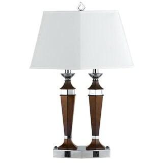 Espresso-colored Metal 2x60-watt Rocker-switch 2-light Lamp