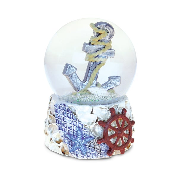 Shop Puzzled Shells With Anchor 65mm Nautical Snow Globes