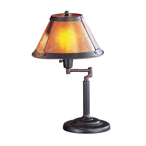 Mica 60-watt Swing Arm Desk Lamp