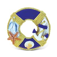 Puzzled Life Ring Multicolored Resin Nautical Sign Magnet