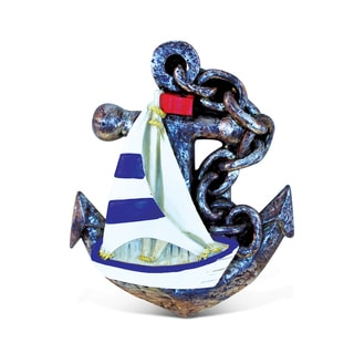 Puzzled Multicolor Resin Anchor with Boat Magnet