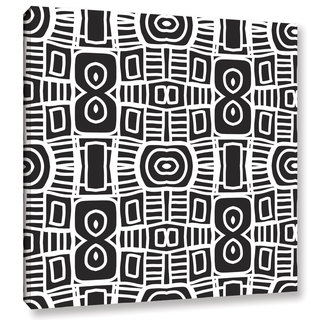 Linda Woods's 'Black and white Boho 2' Gallery Wrapped Canvas