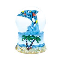 Puzzled Inc. Dolphin Mosaic Multicolored Resin 65-millimeter Nautical Snow Globe