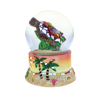 Puzzled Inc. Sea Turtle Mosaic Multicolored Resin 65-millimeter Nautical Snow Globe