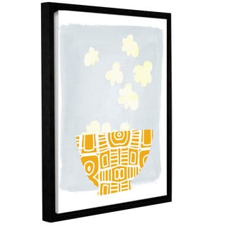 Linda Woods's 'Bowl of Popcorn' Gallery Wrapped Floater-framed Canvas