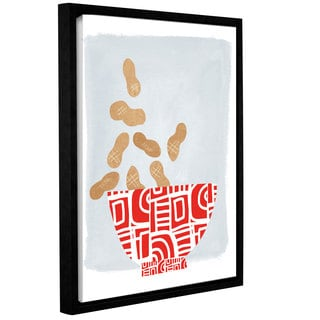 Linda Woods's 'Bowl of Peanuts' Gallery Wrapped Floater-framed Canvas