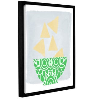 Linda Woods's 'Bowl of Chips' Gallery Wrapped Floater-framed Canvas
