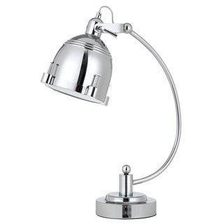 Hubble Chrome Metal 60-watt Adjustable Desk Lamp with Turn Base Switch