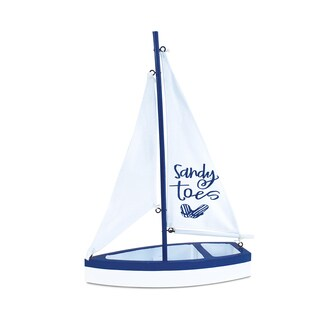 Puzzled Inc Sandy Toes Multicolor Wooden Handcrafted Sailboat