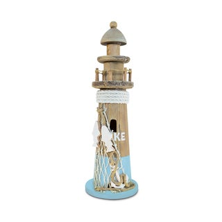 Puzzled Inc Evian Lighthouse Multicolor Wooden Handcrafted Nautical Decor