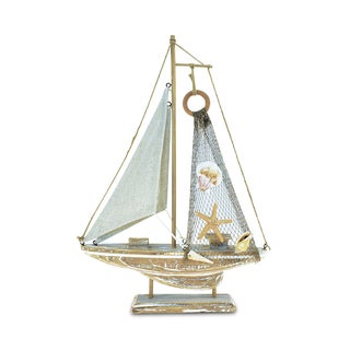 Puzzled Nautical Decor Baja Haven Handcrafted Wooden Sailboat