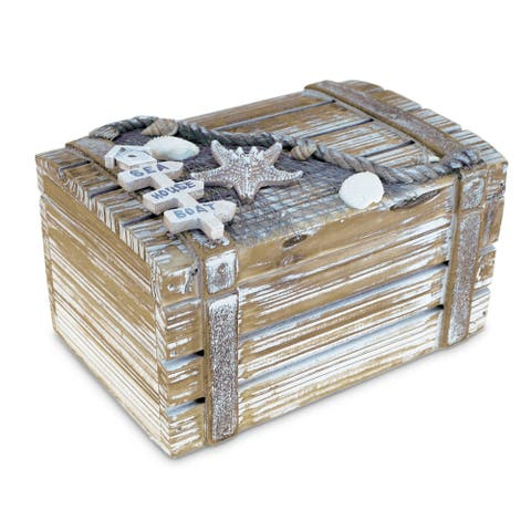 Baja Medium Jewelry Box Handcrafted Wooden Nautical Decor
