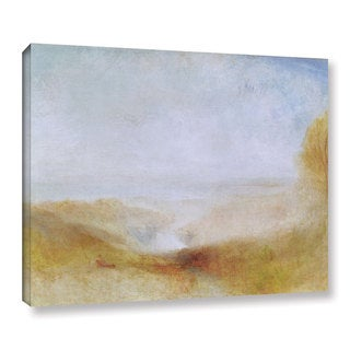 Joseph Mallord Turner jTurner's 'Landscape With A River And A Bay In The Distance' Gallery Wrapped Canvas