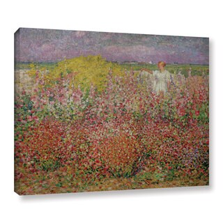 John Peter Russell's 'Mrs. Russell Amongst The Flowers At Belle Isle, 1927' Gallery Wrapped Canvas