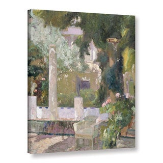 Joaquin Sorolla y Bastida's 'The Gardens At The Sorolla Family House, 1920' Gallery Wrapped Canvas
