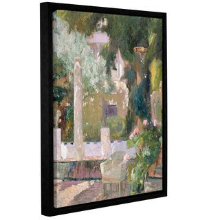Joaquin Sorolla y Bastida's 'The Gardens At The Sorolla Family House, 1920' Gallery Wrapped Floater-framed Canvas