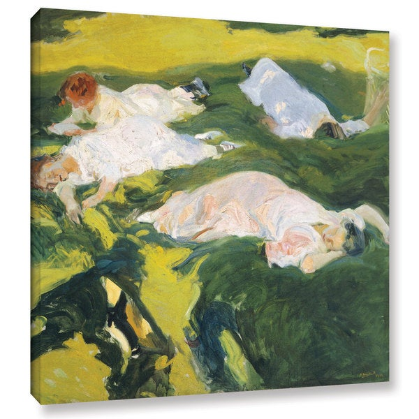 Joaquin Sorolla y Bastida's 'The Siesta, 1911' Gallery Wrapped Canvas