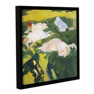 Joaquin Sorolla y Bastida's 'The Siesta, 1911' Gallery Wrapped Floater-framed Canvas